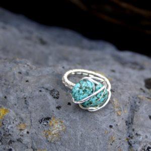 Ring Calypso met turkoois en zilver
