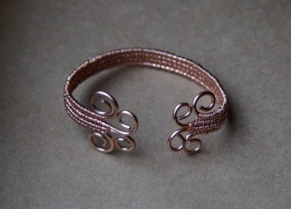Armband Rocaille koper