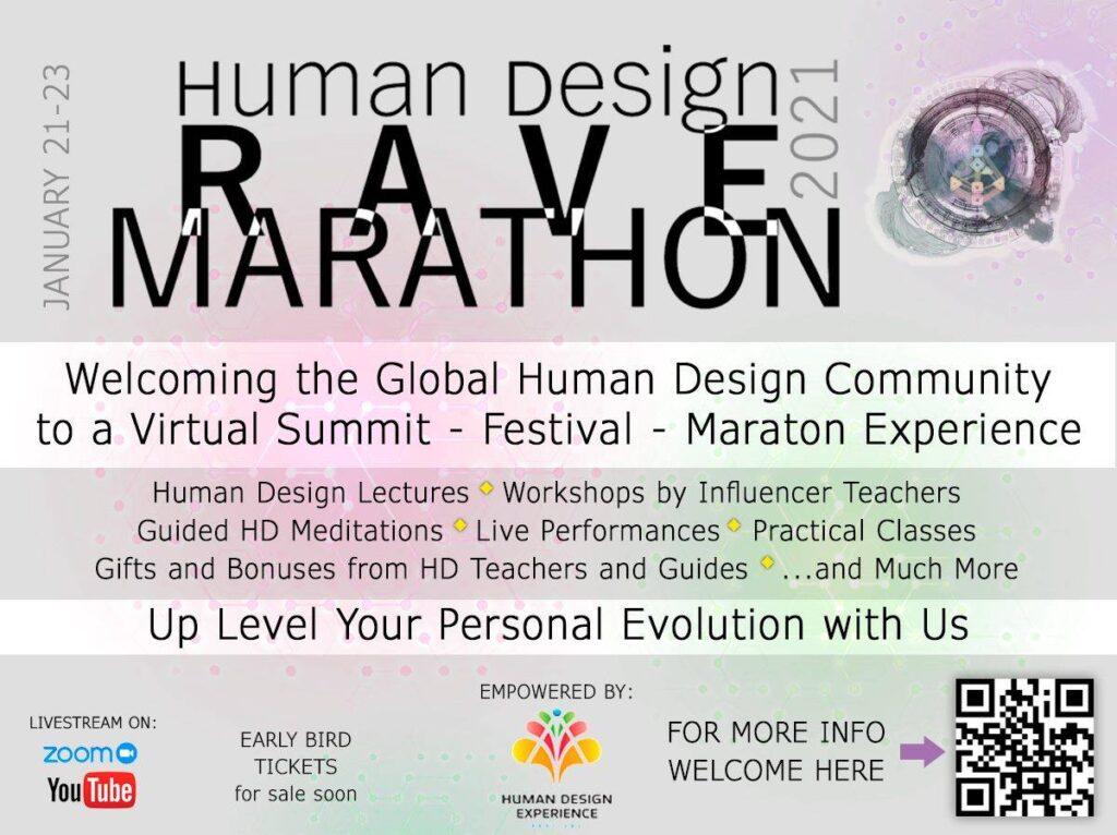 Human Design Rave Marathon 21-24 januari 2021