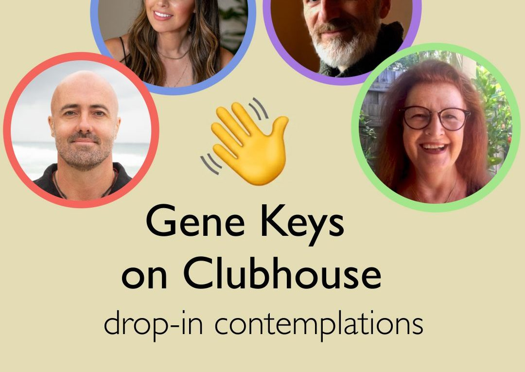 19, 20, 25 en 26 mei Gene Keys clubhouse online